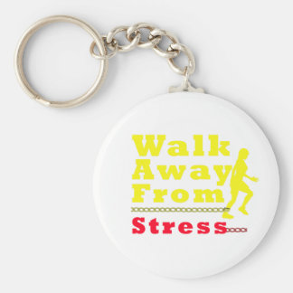 Walk Away From Stress Basic Round Button Keychain