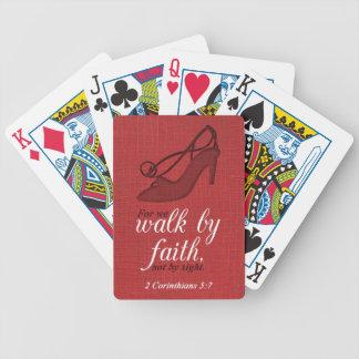 Walk By Faith 2 Corinthians 5:7 Bible Verse Quote Poker Deck