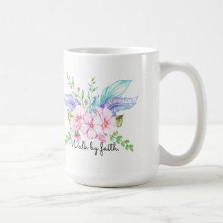 Walk By Faith Boho Flower Mug