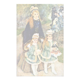 Walk By Pierre-Auguste Renoir (Best Quality) Stationery