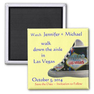 Walk Down the Aisle :  Las Vegas weddings Square Magnet