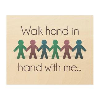 "Walk Hand in Hand 10"" x 8"" Wall Art - Wood"