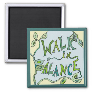 walk in balance vine square magnet