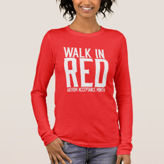 Walk in Red Tshirt