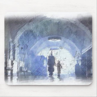Walk in the Train Station Light Mouse Pad