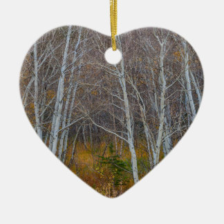 Walk In The Woods Ceramic Heart Ornament