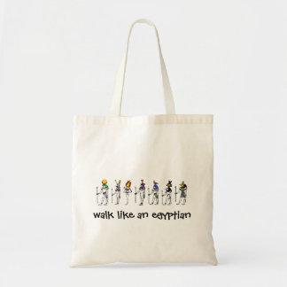 walk like an egyptian tote bag