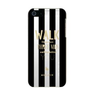 Walk Like B&W Stripes by RITZYFLAMINGO Incipio Feather® Shine iPhone 5 Case