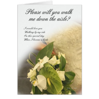 Walk me down the Aisle? Greeting Card