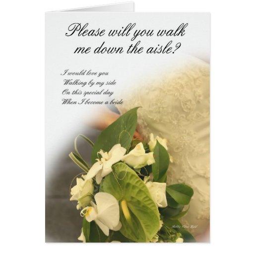 Walk me down the Aisle? Greeting Card