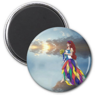Walk on the clouds 2 inch round magnet