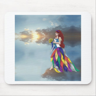 Walk on the clouds mouse pad
