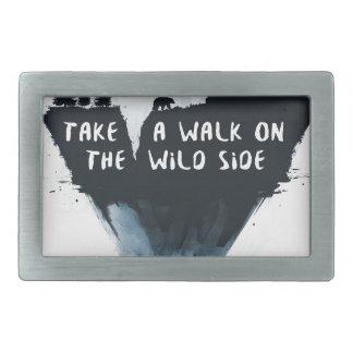 Walk on the wild side belt buckles