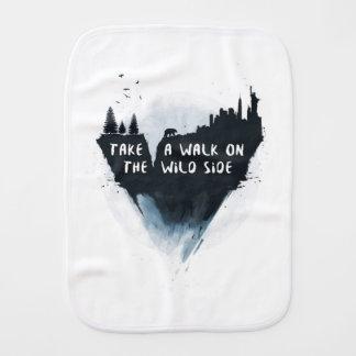 Walk on the wild side burp cloth