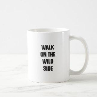 Walk on the wild side classic white coffee mug
