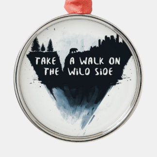 Walk on the wild side Silver-Colored round ornament