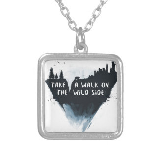 Walk on the wild side silver plated necklace