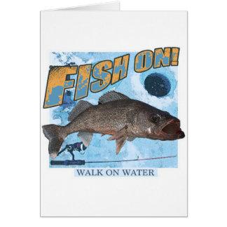 Walk on water walleye card