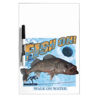 Walk on water walleye dry erase board