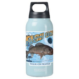 Walk on water walleye insulated water bottle