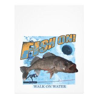 Walk on water walleye letterhead