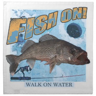 Walk on water walleye napkin