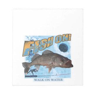 Walk on water walleye notepad
