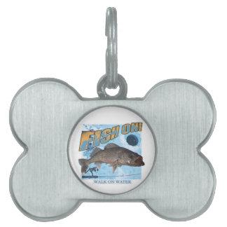 Walk on water walleye pet tag