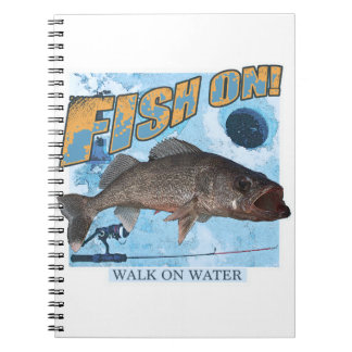 Walk on water walleye spiral note book