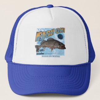 Walk on water walleye trucker hat
