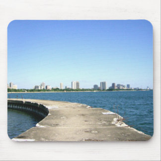 Walk Out To See Chicago Skyline Mouse Pad