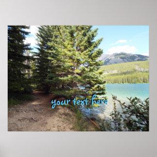 walk path at Banff Poster