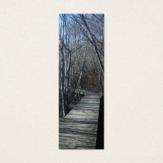 Walk Path Nature Bookmark Mini Business Card