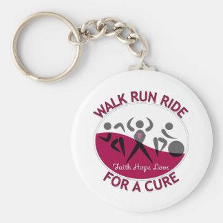 Walk Run Ride For A Cure Head Neck Cancer Key Chain