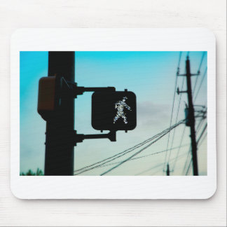 Walk Sign Mouse Pad