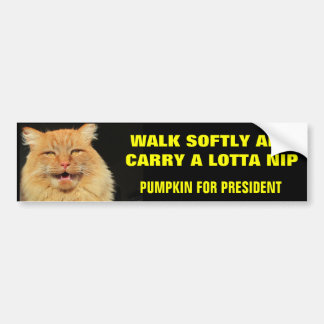 Walk Softly and Carry...Pumpkin for President Bumper Sticker