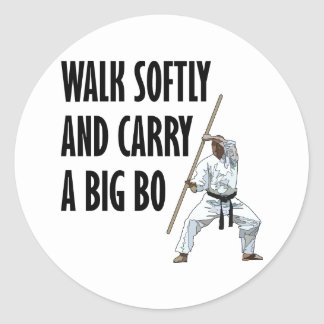Walk Softly Bo Classic Round Sticker