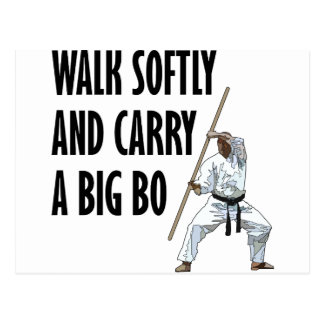 Walk Softly Bo Postcard