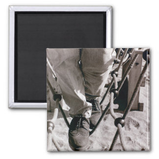 Walk the Line Square Magnet