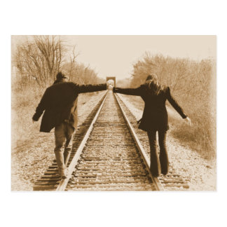 Walk the Rails Together - Postcard