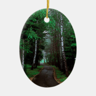 Walk Through The Forest Ceramic Oval Ornament