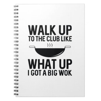 Walk Up To The Club Spiral Notebooks