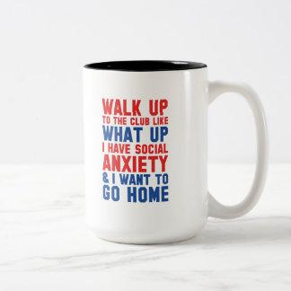 Walk Up To The Club Two-Tone Coffee Mug