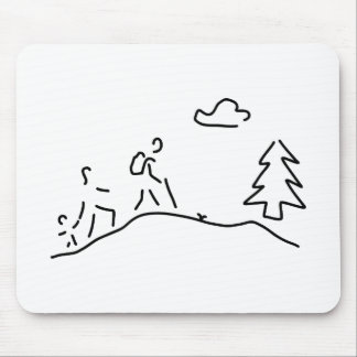 walk walking migration mouse pad