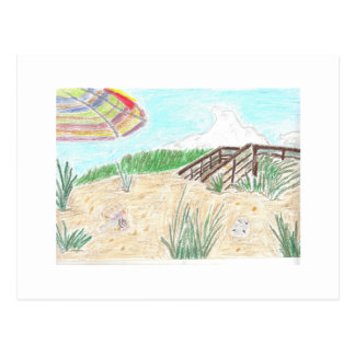 Walk Way to the Beach Postcard