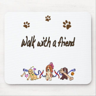 Walk With A Friend Mouse Pad