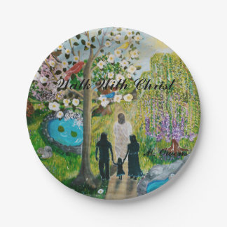 "Walk With Christ 7"" Custom Paper Plates"