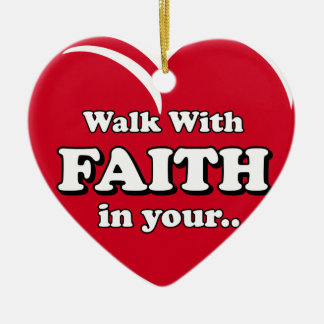 Walk with Faith Ornament