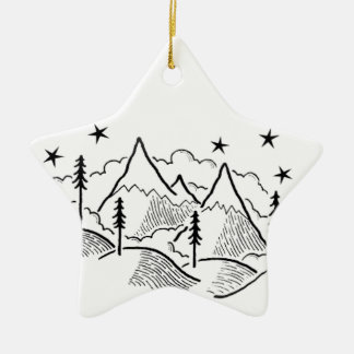 walk with level ceramic star ornament