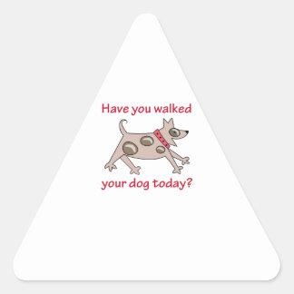 WALK YOUR DOG TRIANGLE STICKER